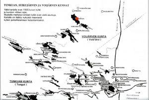 Kartan lähde: KH 1990 nro 9-10, s. 130