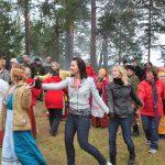 Huovinen ja Lesonen sukujen yhteistapaaminen Heimopäivillä 2019