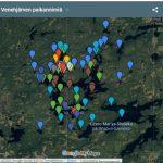 Venehjärven paikannimistöä Googlekartalle